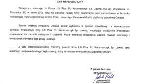 Platforma przyschodowa OMEGA-F Warszawa/Modlin