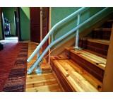 """Co to jest? To wygięcie szyny określane jako """"stromy start"""" - stosujemy by skrócić przestrzeń parkowania krzesełka schodowego na dolnym przystanku przed schodami."""