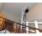 """Platforma O-ga- w trakcie montażu """"szyi gąsiora"""", elementu pozwalającego na umieszczenie silnika poza częścią użytkową schodów"""