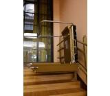 Platforma schodowa STRATOS w Pałacu Kultury i Nauki w Warszawie. Górny przystanek